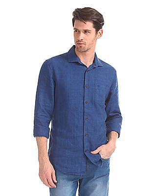 Arvind Slim Fit French Placket Shirt