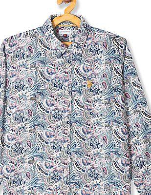 U.S. Polo Assn. Kids Boys Long Sleeve Printed Shirt