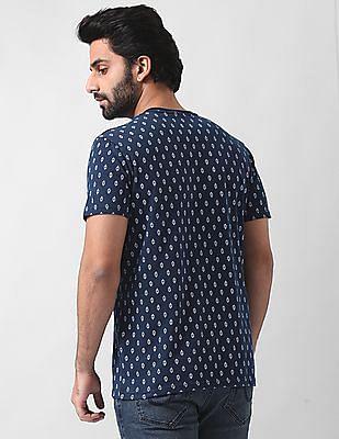 True Blue Slim Fit Henley Neck T-Shirt
