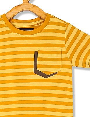 Cherokee Boys Striped Round Neck T-Shirt