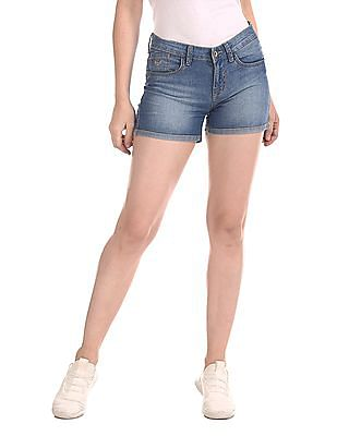 Flying Machine Women Regular Fit Denim Shorts