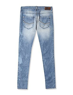 Flying Machine Women Blue Washed Twiggy Super Skinny Fit Jeans