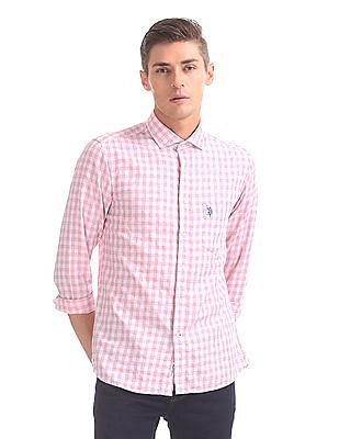U.S. Polo Assn. Tailored Regular Fit Cutaway Collar Shirt