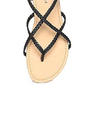 Aeropostale Braided Crossover Strap Sandals
