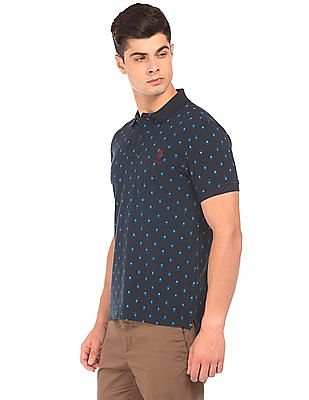 U.S. Polo Assn. Printed Pique Polo Shirt