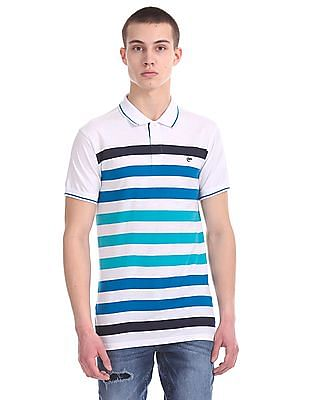 Ruggers Striped Cotton Polo Shirt