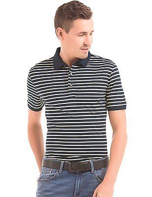 Nautica Striped Slim Fit Polo Shirt