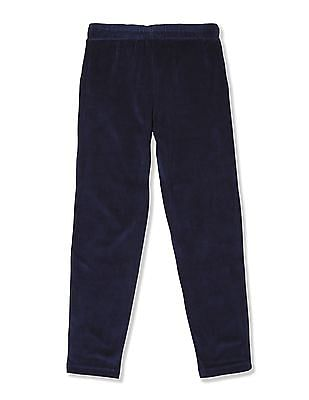 U.S. Polo Assn. Kids Girls Velour Solid Track Pants