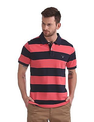 Gant Bar Stripe Pique Rugger Polo Shirt