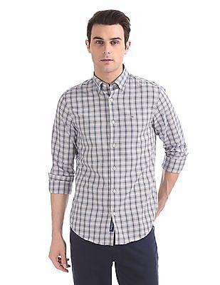 Gant Tech Prep Oxford Check Regular Hidden Button Down Shirt