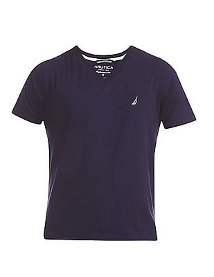 Nautica Solid V-Neck T-Shirt