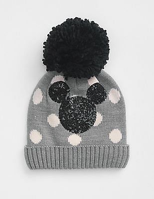 GAP Girls Disney Mickey Mouse Pom Beanie