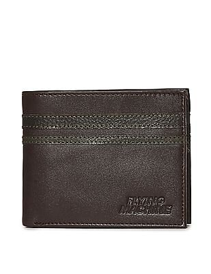 Flying Machine Contrast Panel Leather Wallet