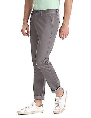 U.S. Polo Assn. Grey Austin Trim Regular Fit Printed Trousers
