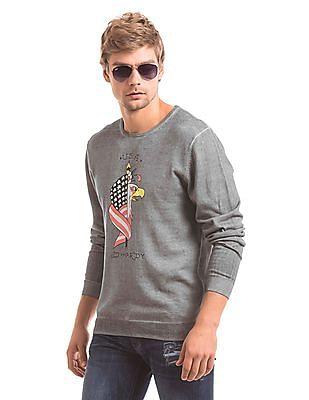 Ed Hardy Regular Fit Round Neck Sweater