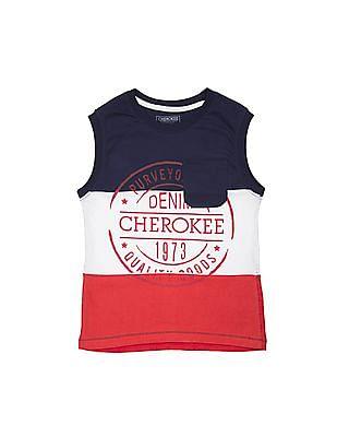 Cherokee Boys Printed Panelled T-Shirt