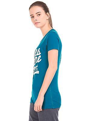 Aeropostale Appliqued Front Round Neck T-Shirt