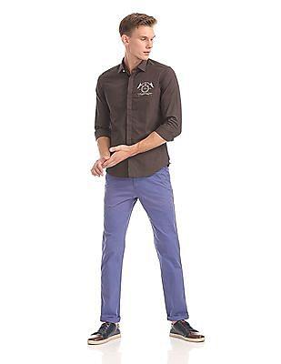 Arrow Sports Manhattan Slim Fit Solid Shirt