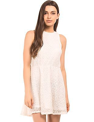 Aeropostale Lace Fit And Flare Dress