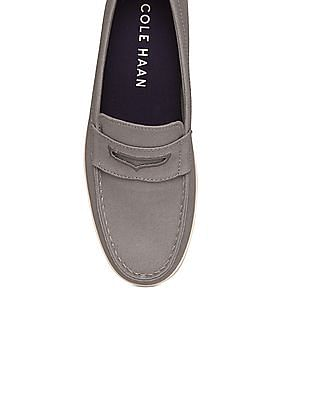 Cole Haan Canvas Upper Penny Loafers