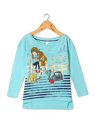 982166ca Buy Girls Girls Long Sleeve Graphic Print T-Shirt online at NNNOW.com