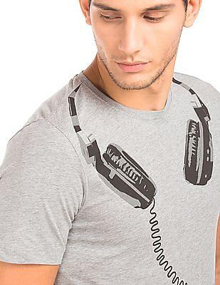 Colt Printed Melange T-Shirt