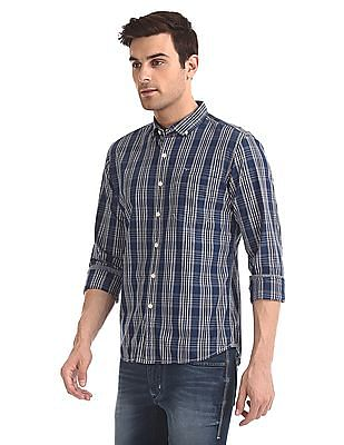 Flying Machine Regular Fit Button Down Collar Shirt