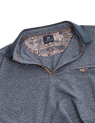 True Blue Grindle Knit Slim Fit Polo Shirt