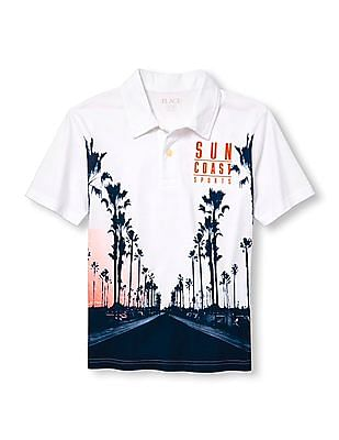 The Children's Place Boys Short Sleeve Graphic Polo Shirt