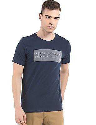 Arrow Newyork Printed Regular Fit T-Shirt