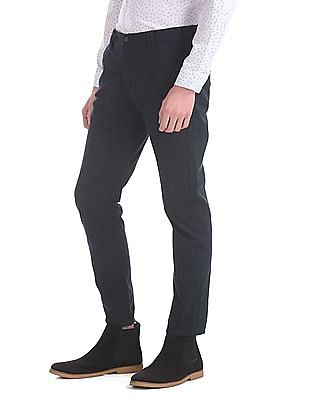 Flying Machine Slim Fit Flat Front Trousers