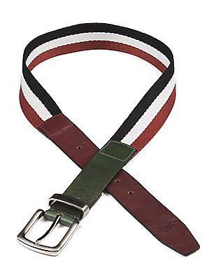 U.S. Polo Assn. Striped Canvas Belt