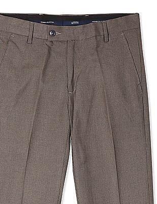 Arrow Mid Rise Urban Slim Fit Trousers
