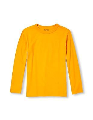 The Children's Place Boys Long Sleeve Solid Top