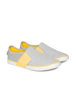 Flying Machine Mesh Panel Slip On Shoes