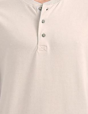 Cherokee Regular Fit Solid Henley T-Shirt