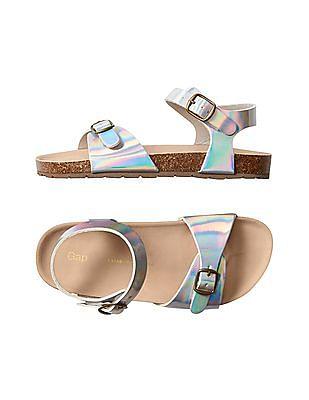 GAP Girls Multi Colour Cork Buckle Sandals