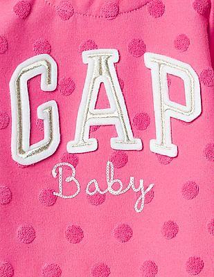 GAP Baby Embellished Logo Shirred Top