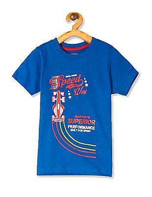 Cherokee Blue Boys Printed T-Shirt