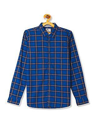 FM Boys Boys Slim Fit Cotton Shirt