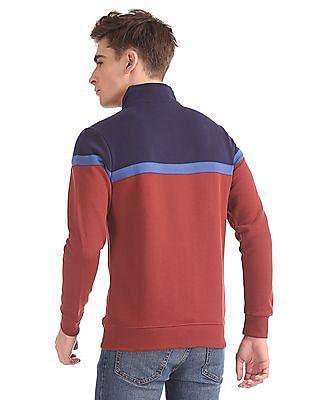 Izod Zip-Up Colourblocked Sweatshirt