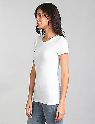 GAP Women White Pure Body Short Sleeve Tee