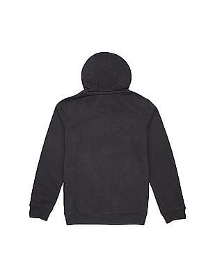 U.S. Polo Assn. Kids Boys Hooded Graphic Print Sweatshirt
