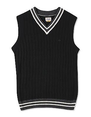 Arrow Sports Sleeveless V-Neck Sweater