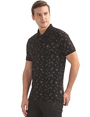 Flying Machine Printed Regular Fit Polo Shirt