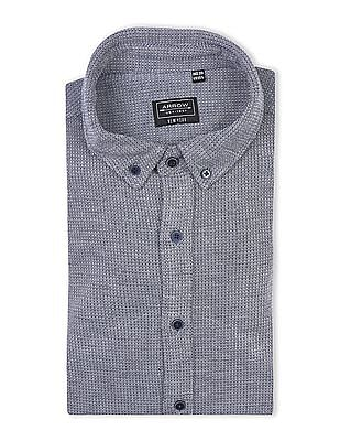 Arrow Newyork Patterned Weave Button Down Shirt