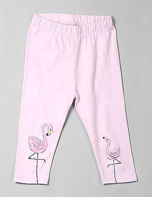 GAP Toddler Girl Pink Graphic Crop Leggings In Stretch Jersey