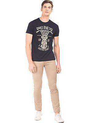 Izod Graphic Print Crew Neck T-Shirt