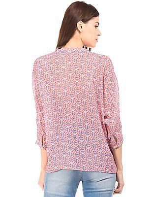 U.S. Polo Assn. Women Dolman Sleeve Printed Top
