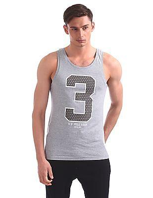 USPA Innerwear Regular Fit Printed Sports Vest